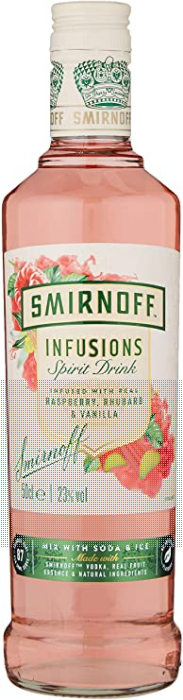 Smirnoff Infusions Raspberry Rhubarb and Vanilla 50cl